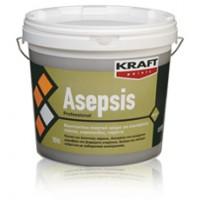 Μυκητοκτόνο πλαστικό χρώμα για εσωτερικούς τοίχους, γυψοσανίδες, σοβάδες, τσιμέντα, ιδανικό για άσηπτους χώρους Kraft  Asepsis