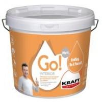 Οικονομικό πλαστικό χρώμα για εσωτερικούς τοίχους και ταβάνια Kraft Go! Interior