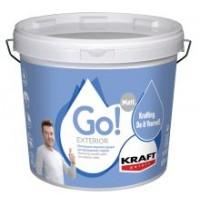 Οικονομικό ακρυλικό χρώμα για εξωτερικούς τοίχους Kraft Go! Exterior