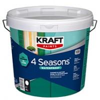 Σιλικονούχο Ακρυλικό Χρώμα Για Εξωτερική Χρήση Kraft 4 Seasons Waterproof