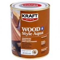 Διακοσμητικό Βερνίκι Ξύλου Νερού Πολυουρεθάνης Kraft Wood Style Aqua